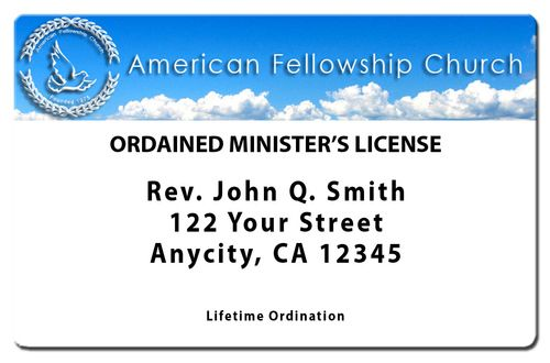 Lifetime Minister License - ID Card - Ordination - Membership - best of ordination certificate free