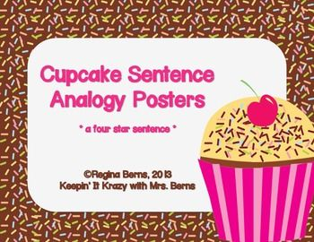 001 Cupcake Sentence Analogy Posters Reading/Writing