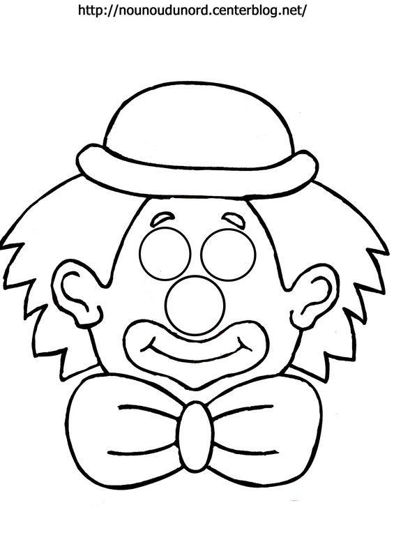Masque Clown A Imprimer Masque Clown Coloriage Clown Et Coloriage Masque