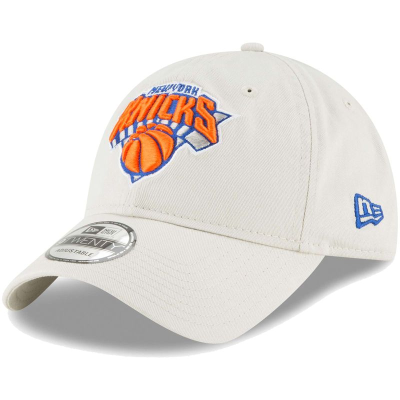 47432b71cca165 New York Knicks New Era Core Classic 9TWENTY Adjustable Hat – Tan ...