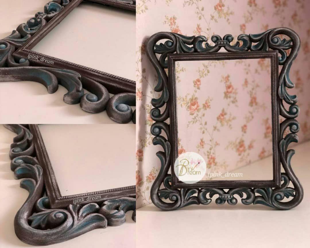 إطار إطارات برواز فريم لوحة لوحات برواز تعتيق ديكوباج Frame Decoration Decoupage Hand Made Antique Frame Projects To Try Pink