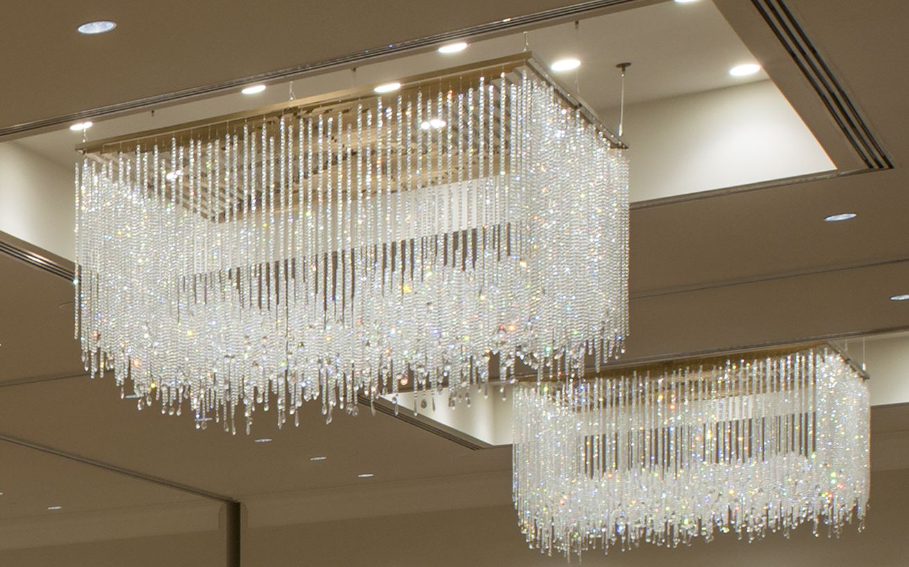 Crystal chandelier simple luxury open frame faceted crystal crystal chandelier simple luxury open frame faceted crystal strands custom made by arubaitofo Choice Image