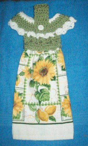 Crocheted Towel Toppers Patterns For Free Hanging Kitchen Towels