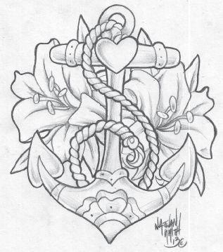 Anchor Tattoo Drawing Pesquisa Google Ancora Desenho