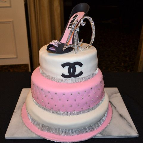 Chanel Inspired Cake Design by Sugar Street Boutique Toronto Ontario