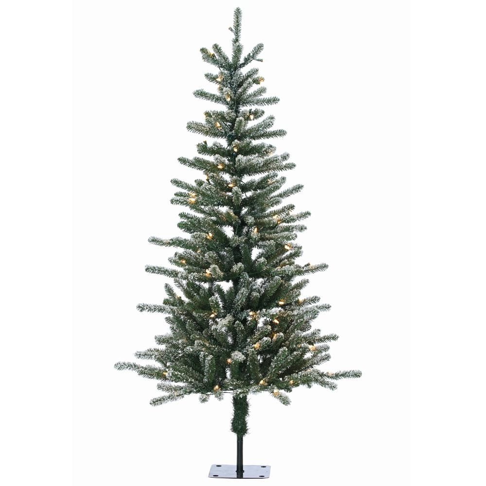 5 Ft Pre Lit Bridgeport Pine Artificial Christmas Tree With Clear Lights 5838 50c The Home Depot Full Christmas Tree Christmas Tree Potted Christmas Trees