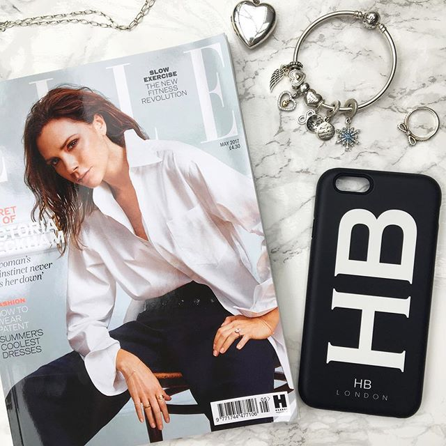Personalised Palm Print Initial Phone Case - HB LONDON