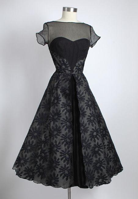1950s Silk Chiffon