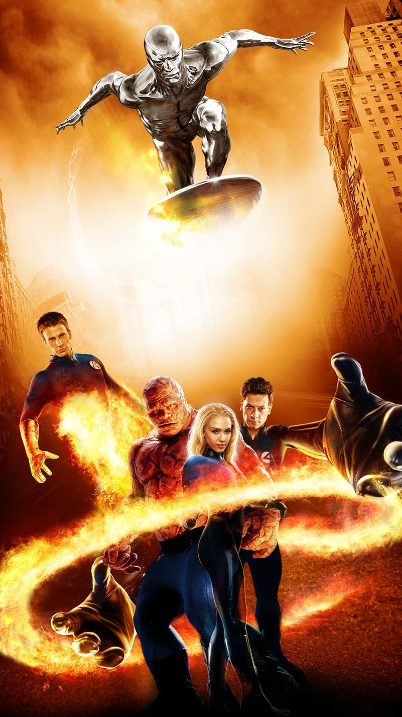 Fantastic Four Rise Of The Silver Surfer 2007 Phone Wallpaper Moviemania Fantastic Four Movie All Marvel Movies Fantastic Four