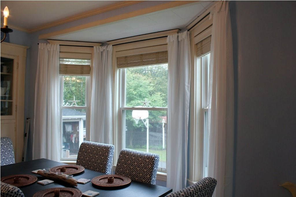 Interior Awesome Bay Window Treatments Lowes Also Bay Window