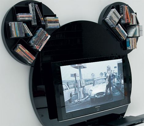 Beautiful Modern TV Stand By Pacini Cappellini   Mickey Mouse Nice Ideas
