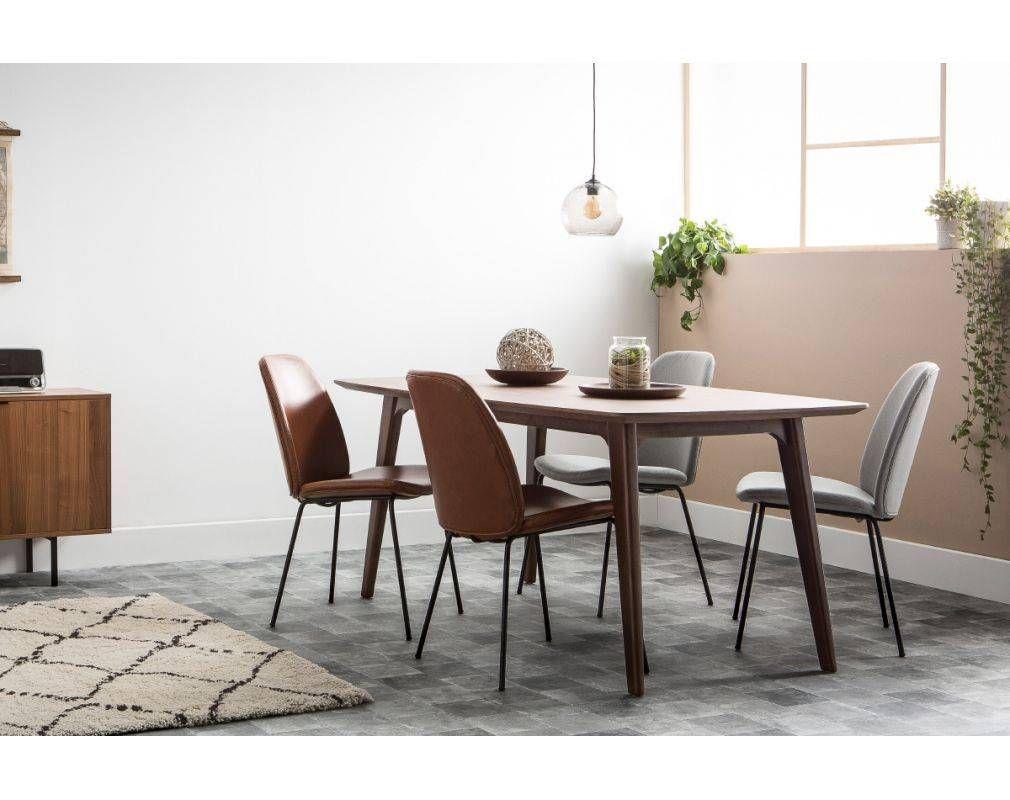 Table A Manger Design Extensible Noyer L180 230 Cm Fifties Table A Manger Design Table A Manger Decoration Maison