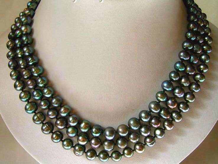 The Dainty Collection Dainty Sterling Silver .925 Tahitian Black Pearl Necklace