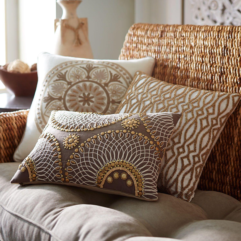 Beaded Geo Lumbar Pillow | Pier 1 Imports