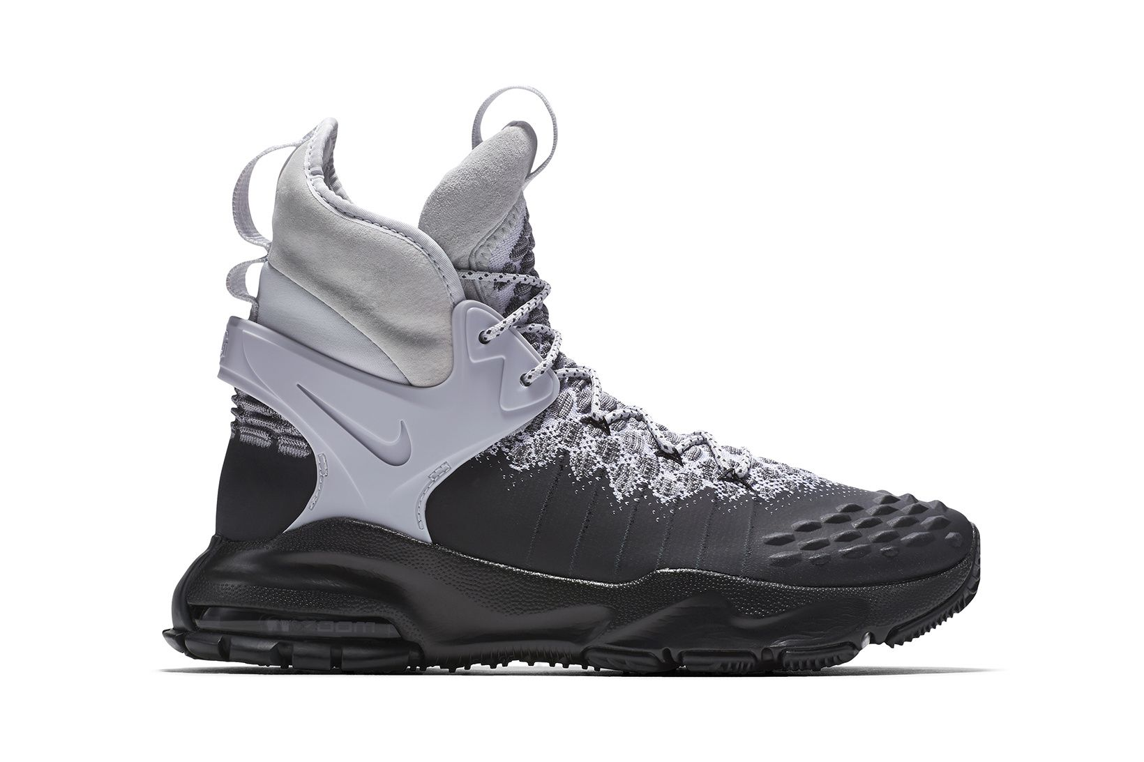 NikeLab Nike Zoom Tallac Flyknit ACG Boot Black Grey Men's Shoes black