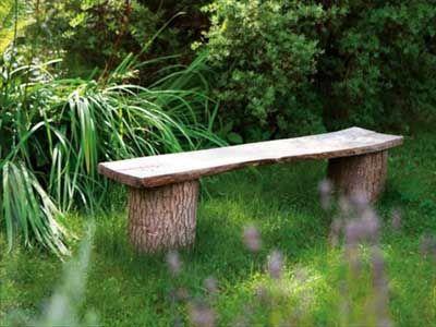 15 fotos e ideas para hacer un banco para el jardín Ideas para el - como hacer bancas de madera para jardin