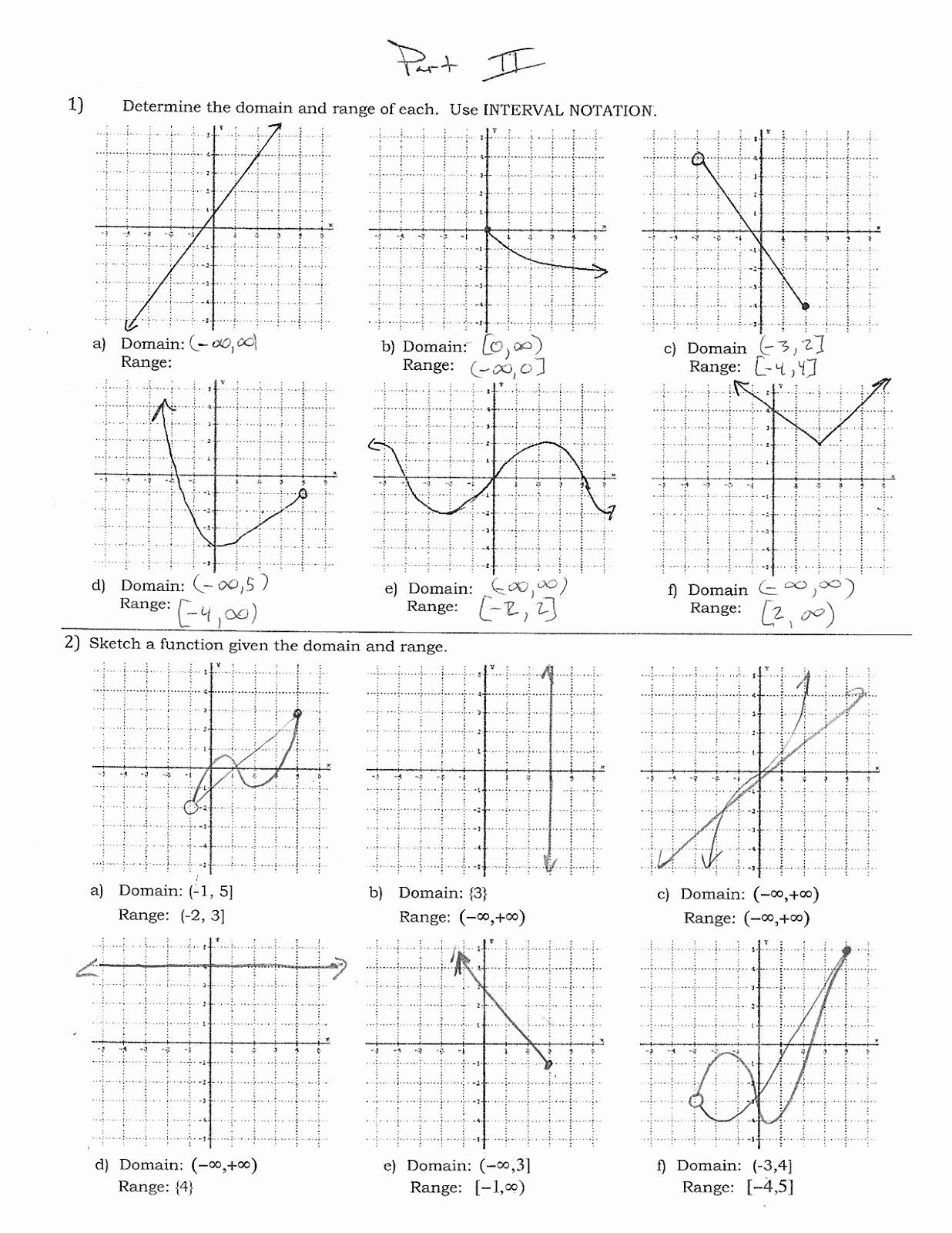 Domain And Range Practice Worksheet Awesome Mr Suominen S