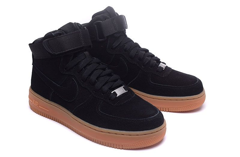 best sneakers 216a5 dc01f Nike Air Force 1 High Black Chamois