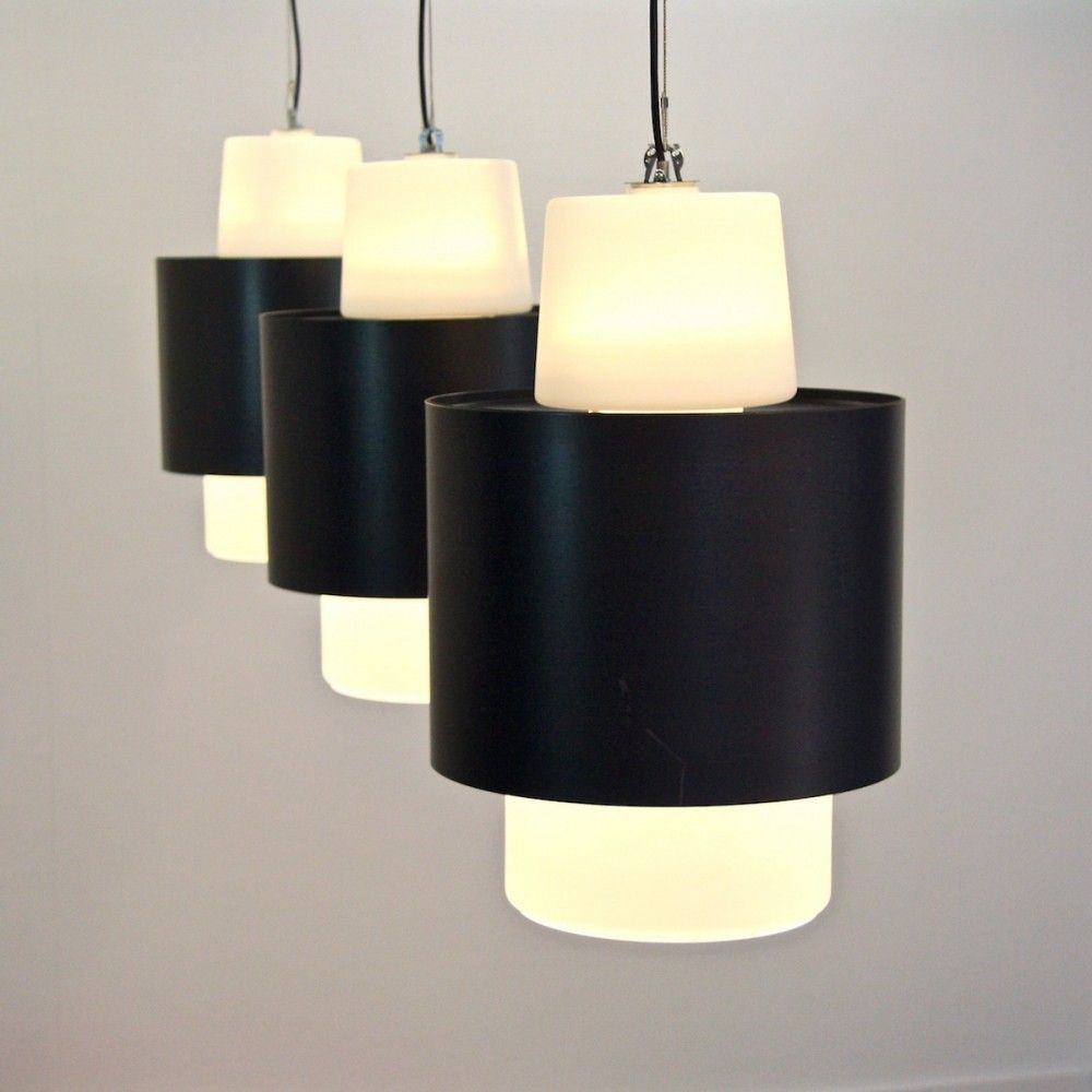 Set of hanging lamps from the sixties by unknown designer for