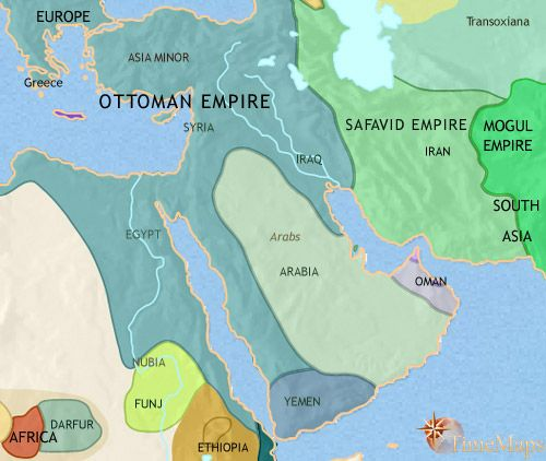 history map of Middle East 1648AD History supplements Pinterest