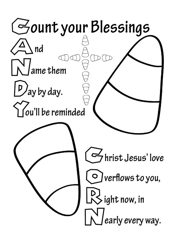 print coloring image Verses, Bible and Sunday school - best of fun coloring pages for fall
