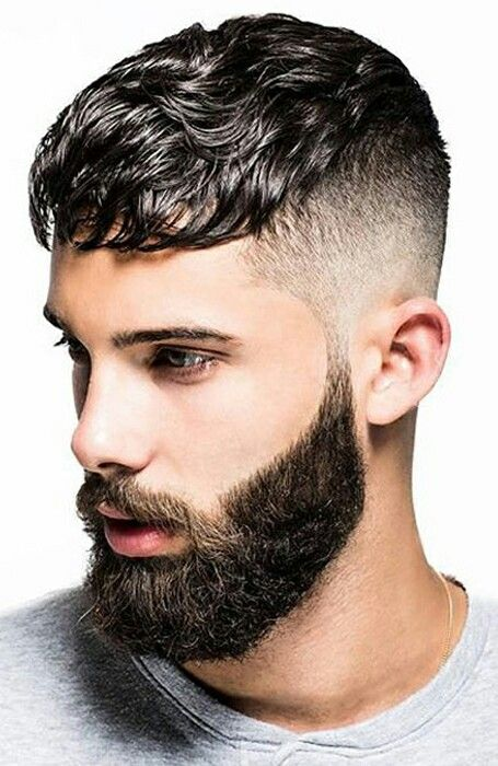 Caesar Fade Beard Barbering Haircut For Thick Hair Haircuts