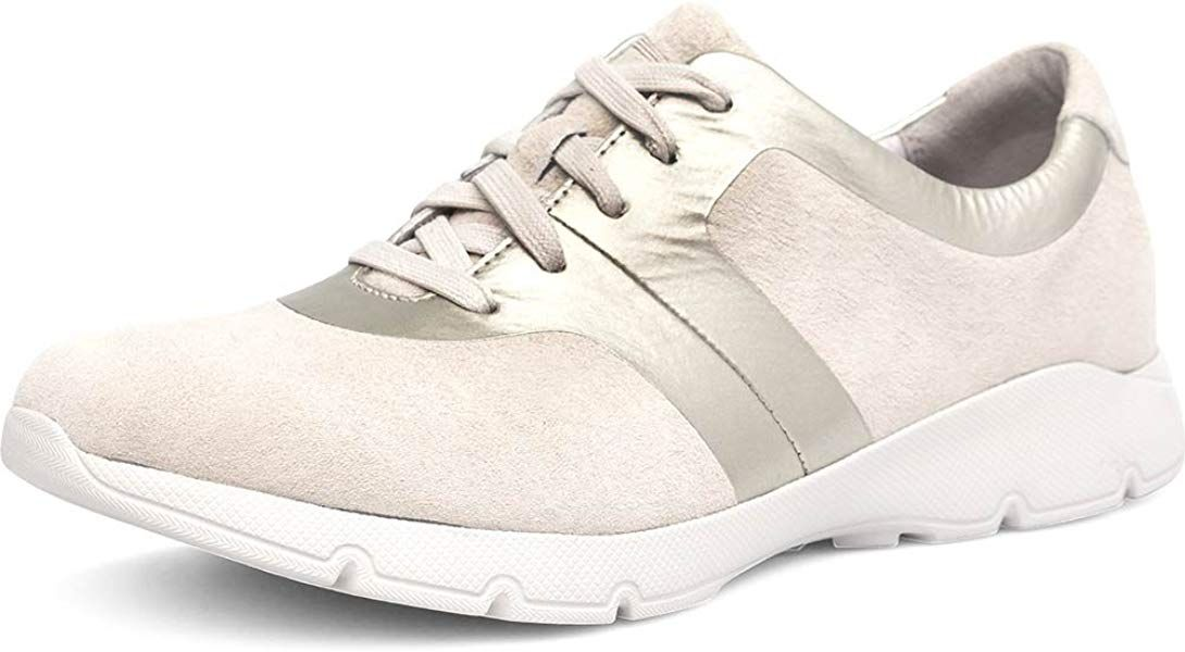30d2afdc4a5f8 Amazon.com | Dansko Womens Andi Ivory/Gold Suede Sneaker - 38 ...