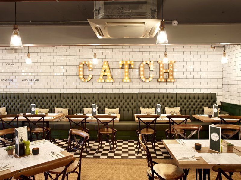 Catch seafood restaurant hospitality interiors in