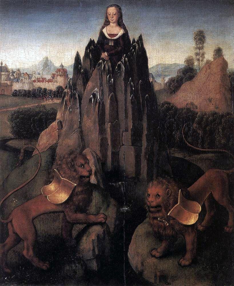 Hans Memling. Allegory of Chastity c.1479-1480