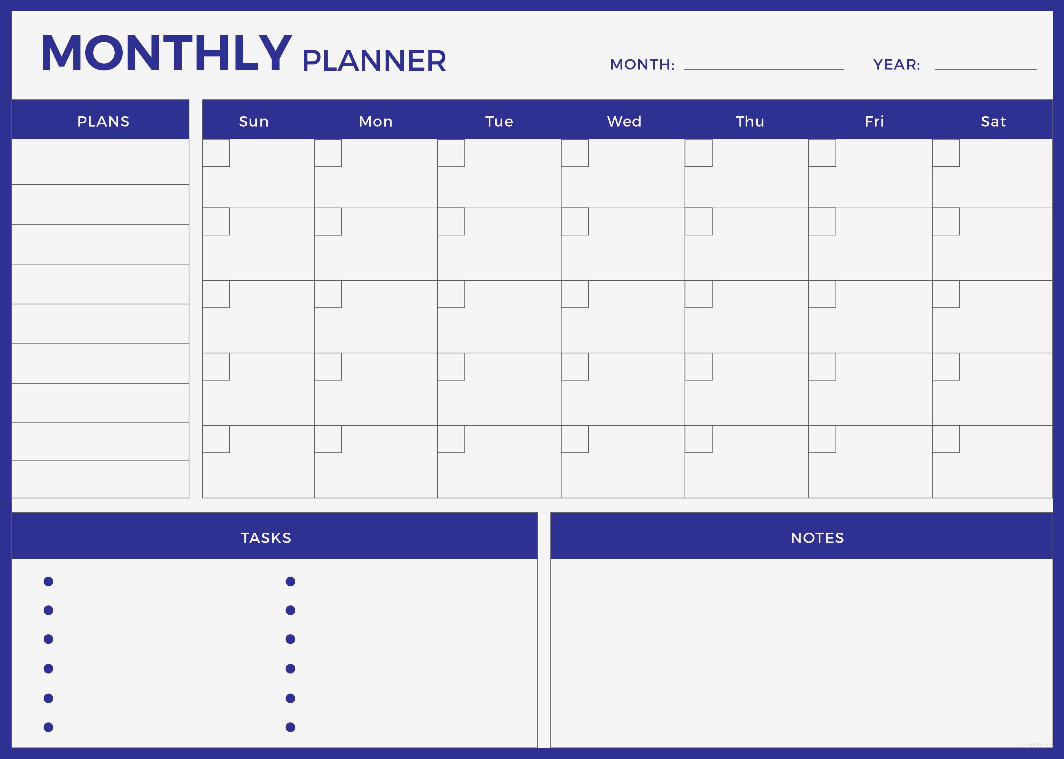 Free Monthly Planner Planner Template Monthly Planner Template