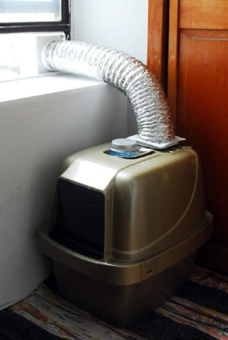 Kitty litter box vent! I could have used this when I lived in my ...