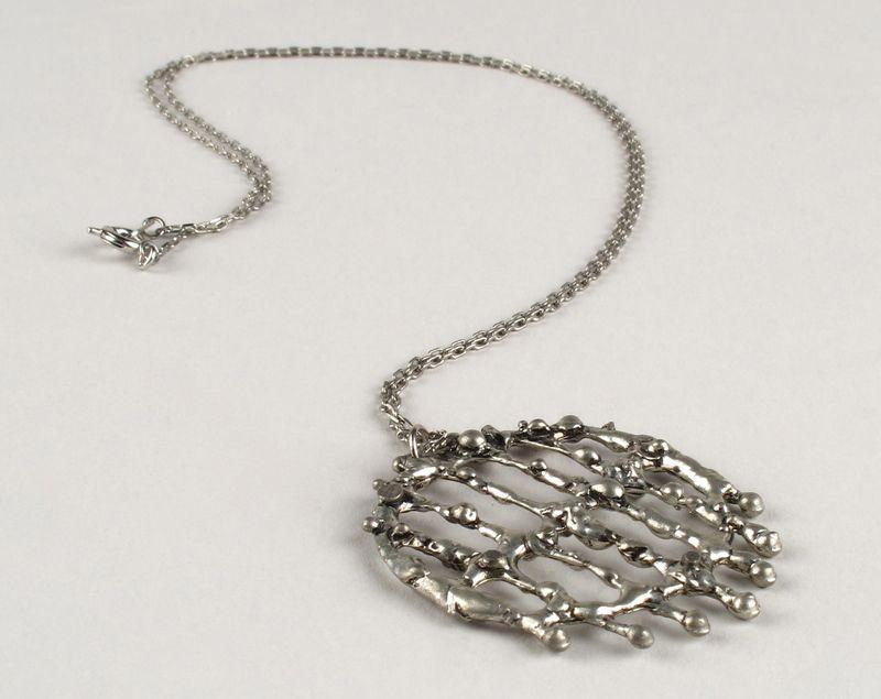 Vintage modernist silver plated pendant necklace jewelry pinterest vintage modernist silver plated pendant necklace aloadofball Choice Image
