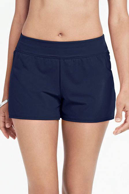4edbbcad828 Women s Beach Living Swim Shorts with Tummy Control from Lands  End ...