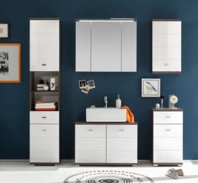 Badezimmer Ulme  weiss mit Spiegelschrank und Beleuchtung Jetzt - badezimmer spiegelschrank beleuchtung
