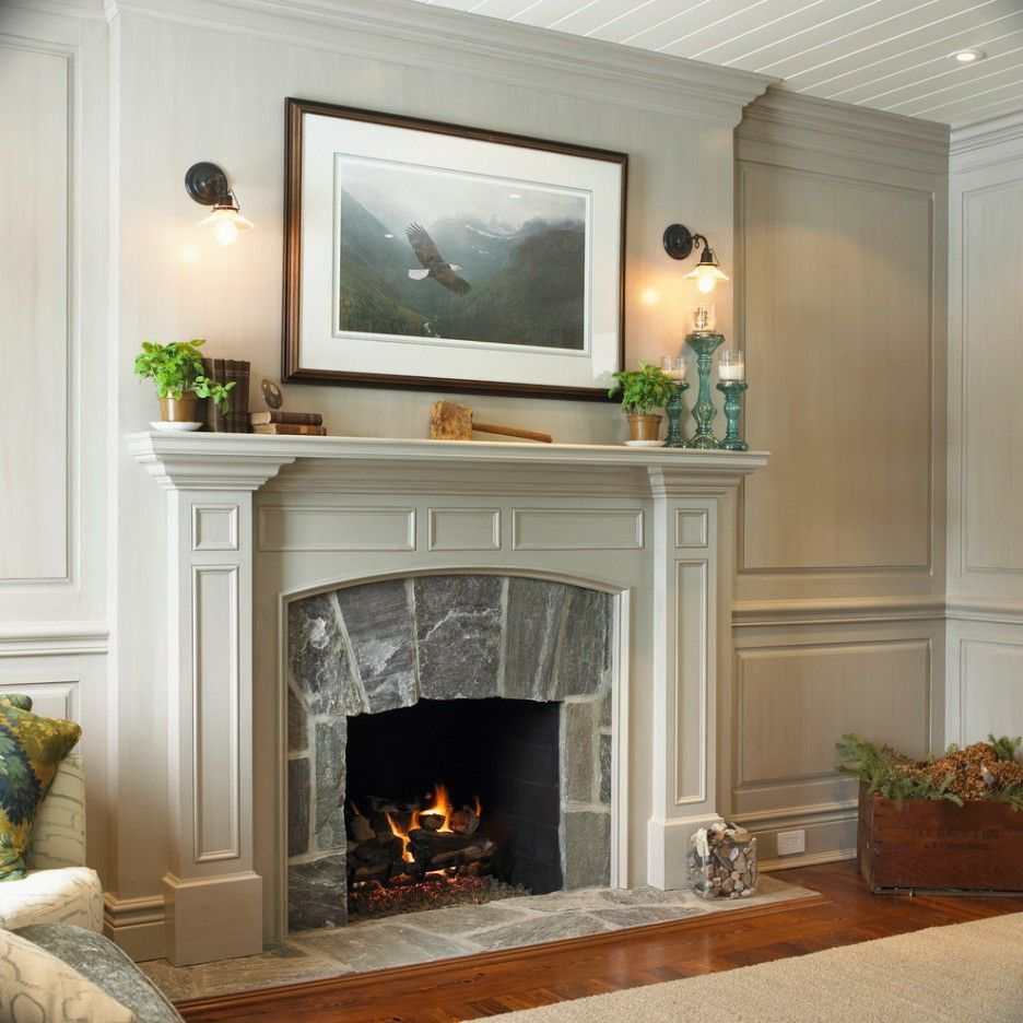 Home Accessories Endearing Design Traditional Fireplace Mantel