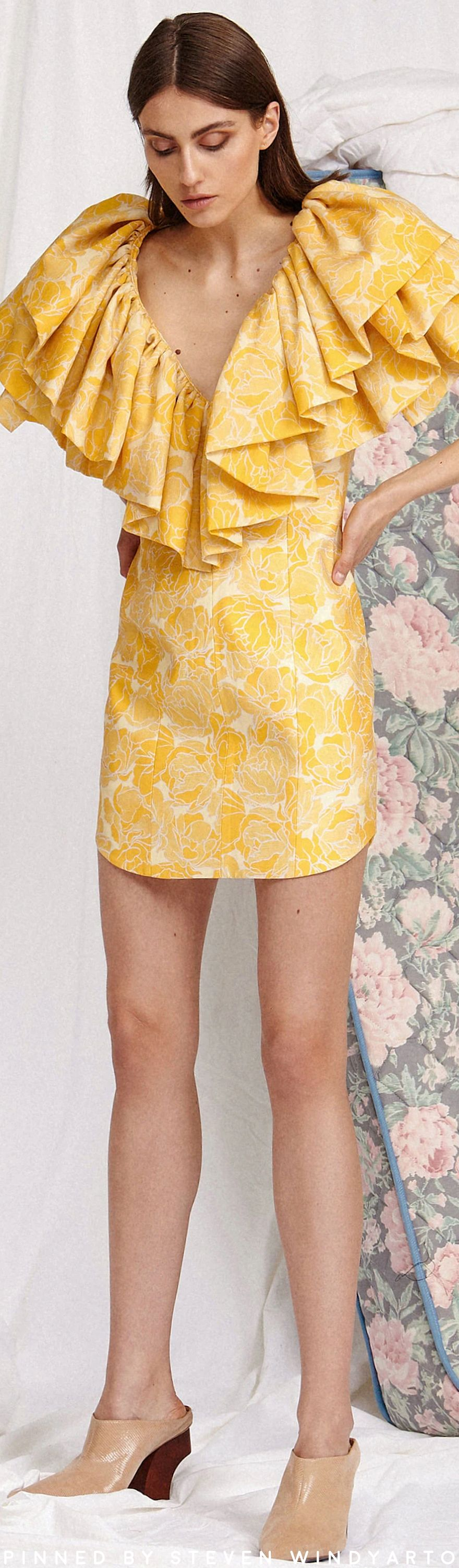 Acler Resort 2020 Yellow Fashion Fashion Clothes Design