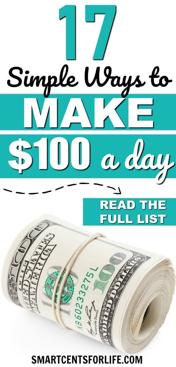100 Dollars A Month >> Top 20 Smart And Creative Ways To Make 100 A Day Extra