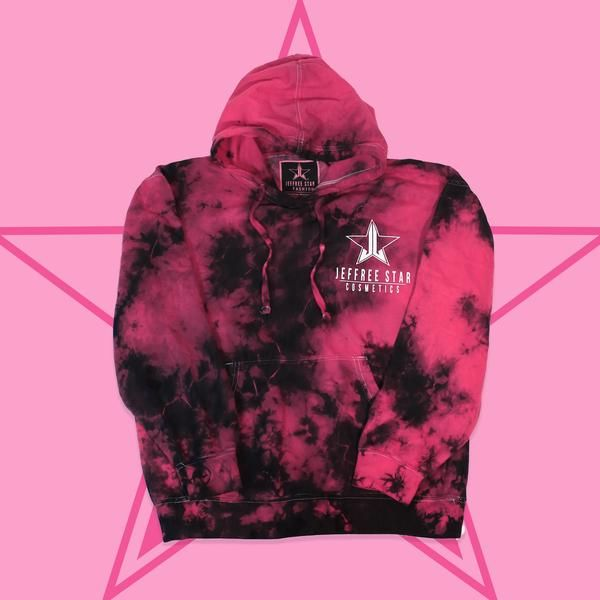 c754f1c9c This UNISEX 'Tie-Dye Dreamhouse Hoodie' is a custom garment and crystal  wash tie-dyed so no two items are identical. The Jeffree Star Cosmetics  logo is ...