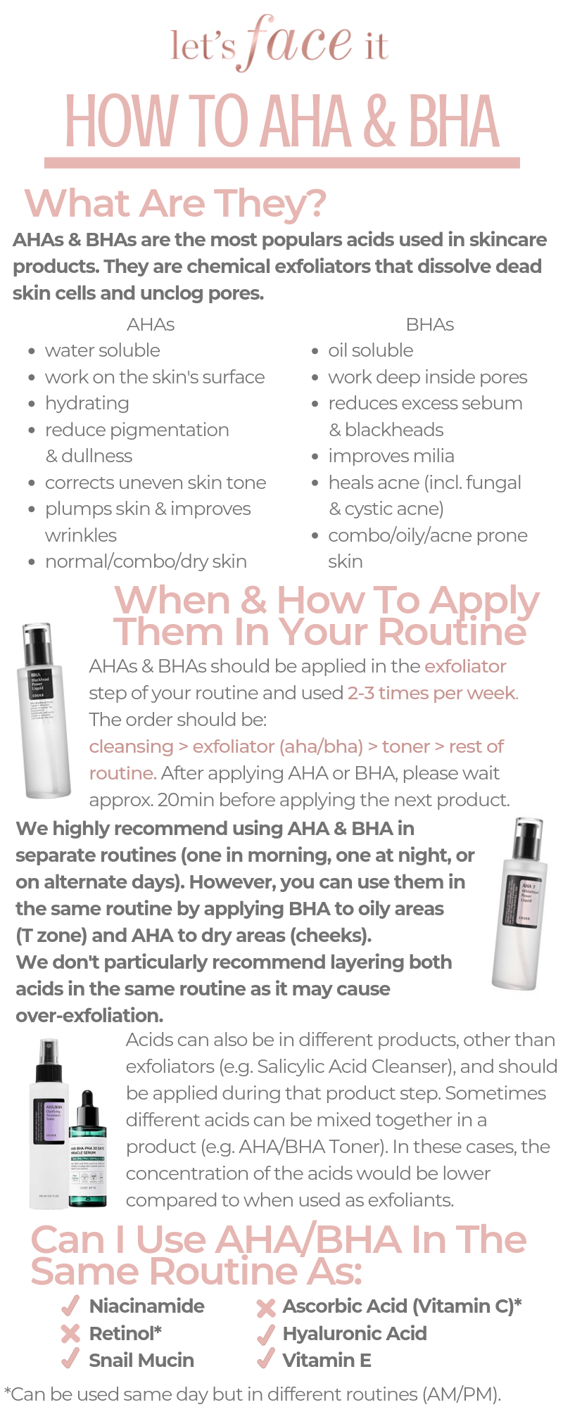 K Beauty Tips: How To Use AHA/BHA In Your Skincare Routine