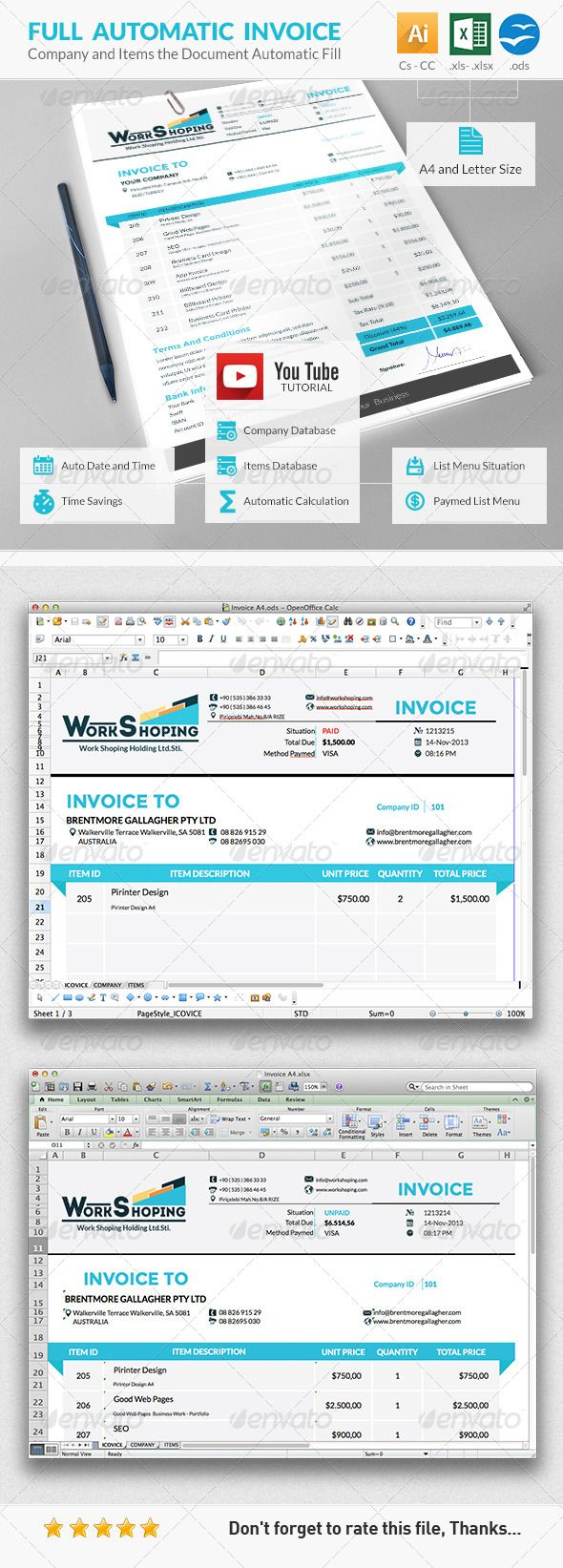 invoice | microsoft, products and templates free, Invoice examples
