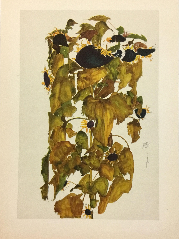 1910 Wall Art Poster Print Egon Schiele Sonnenbaum