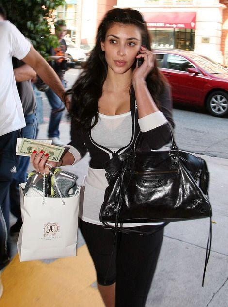 Kim Kardashian and Balenciaga Motorcycle Bag Photograph  124f655363c85