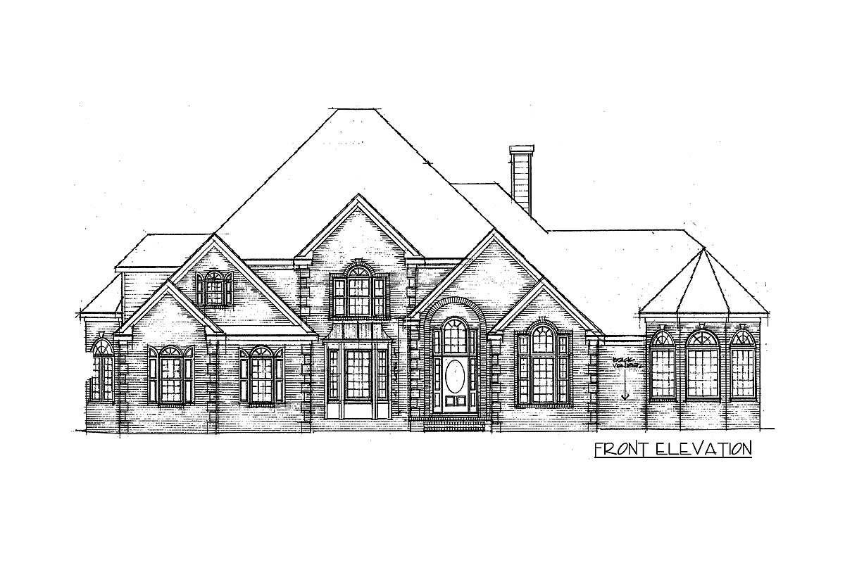 Plan 5697TR: 3 Bed House Plan With Octagonal Sun Room