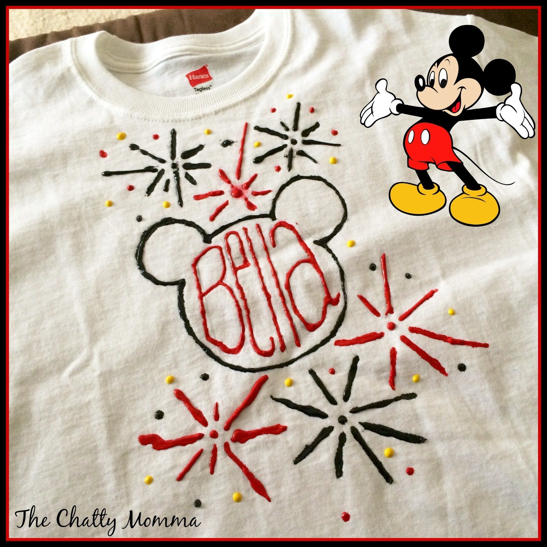 Puffy paint designs -  Disneyside At Home Celebration How To Create A Puffy Paint T Shirt Video