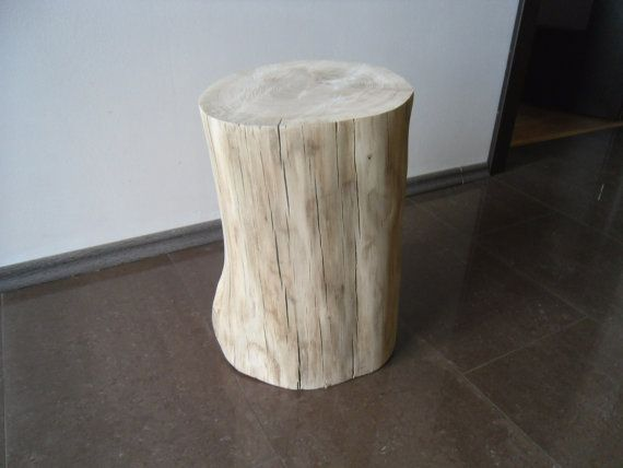 Oak Stool Chair Table Wood Tree Stump Table Wooden By DECORHOLZ