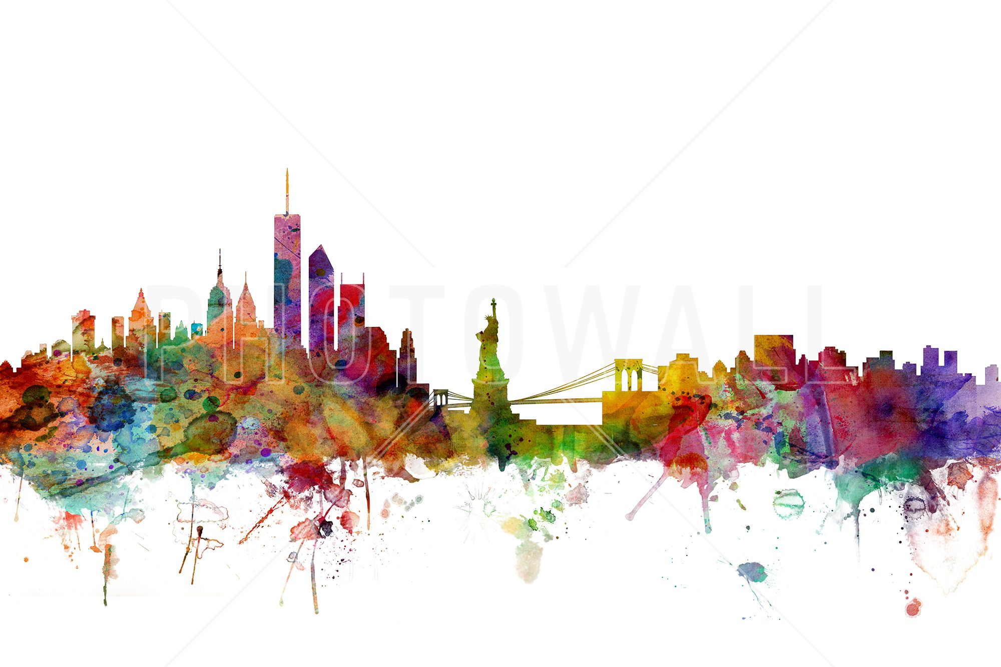 New York Skyline - Fotobehang & Behang - Photowall