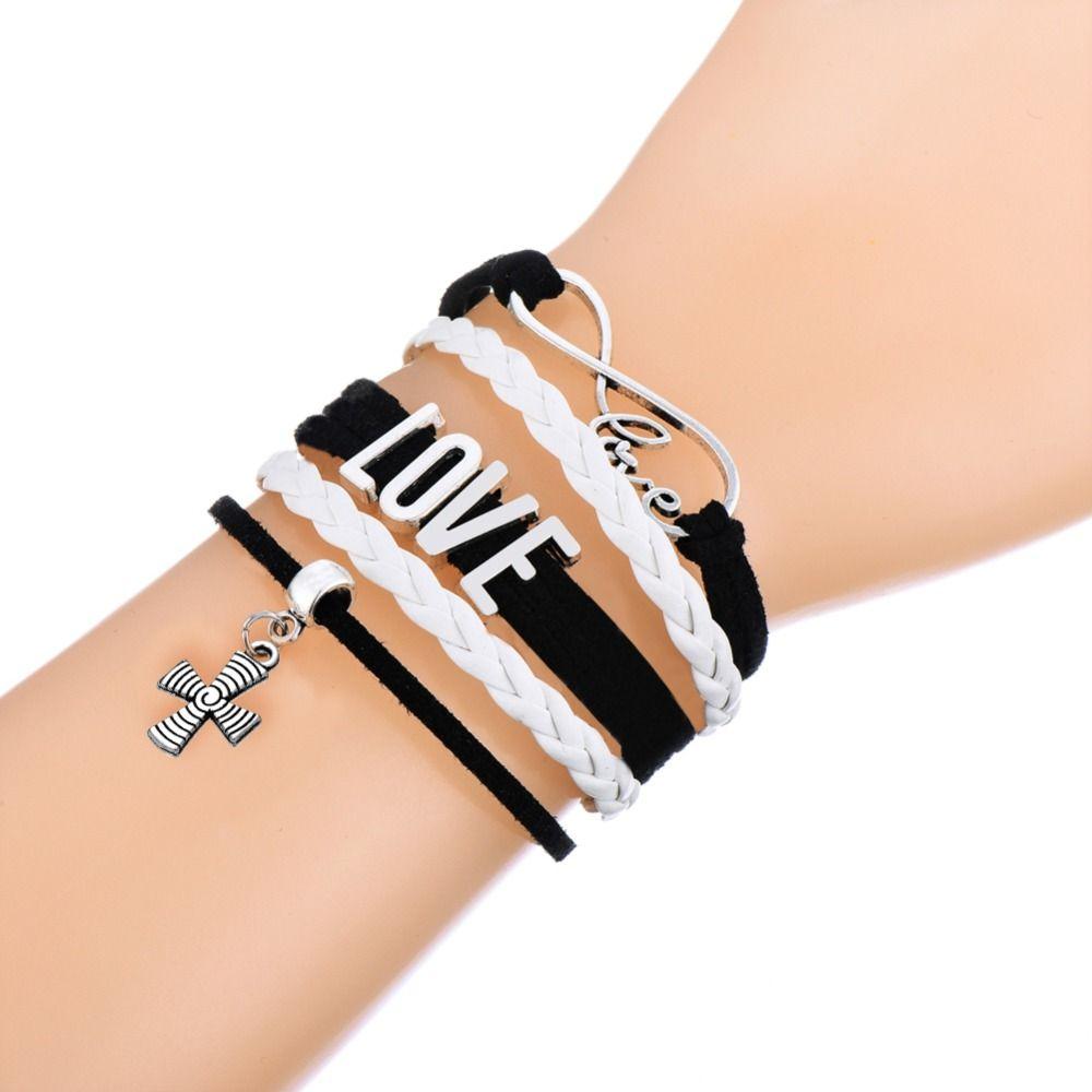 Dawapara cross leather bracelet men handmade jewelry religious