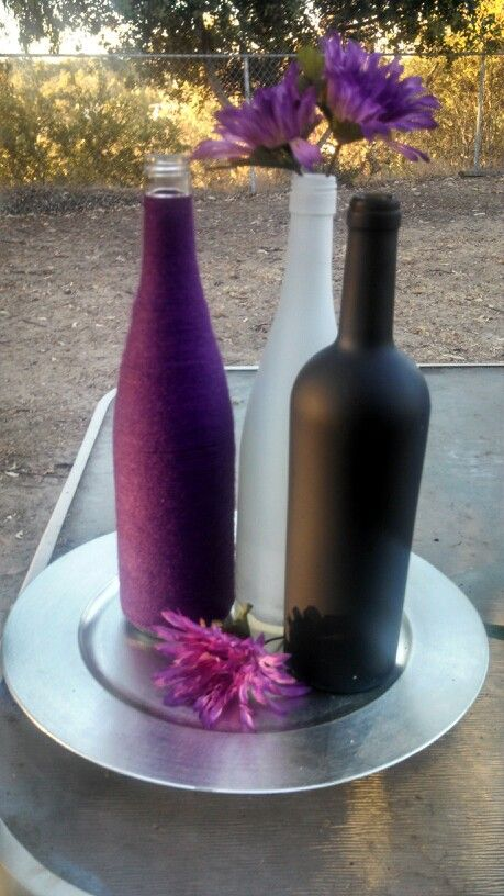 Wine Bottle Centerpiece Idea Diy Decor Bridal Shower