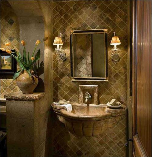 Tuscan Inspired Bathroom Design