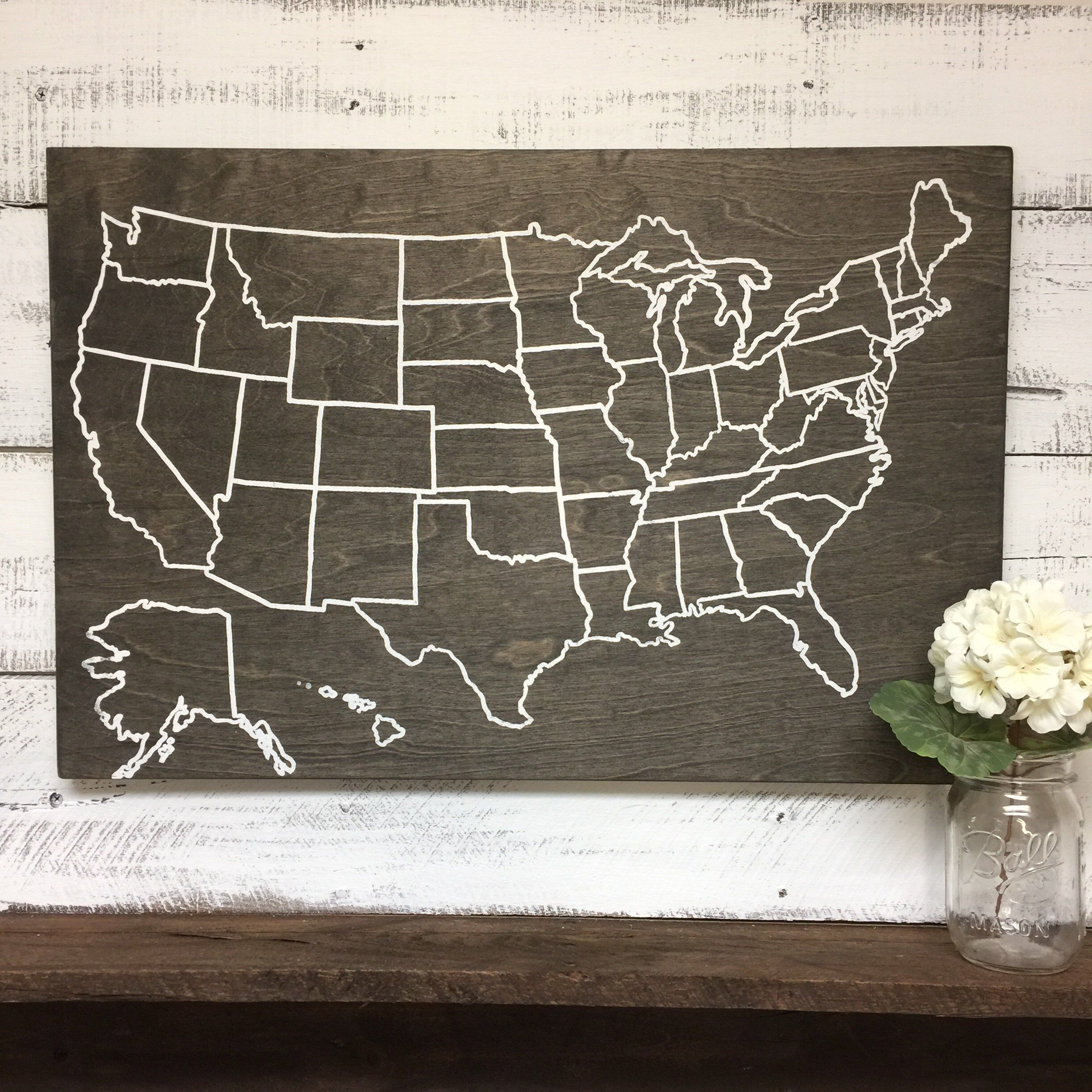 Travel Map   US Wood Map   USA Travel Map   Personalized   Pin Map ...